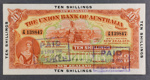 Union Bank of Australia 1923 Ten Shillings