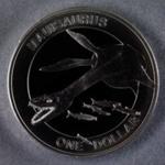 Reserve Bank of New Zealand 2010 One Dollar Reptiles Mauisaurus
