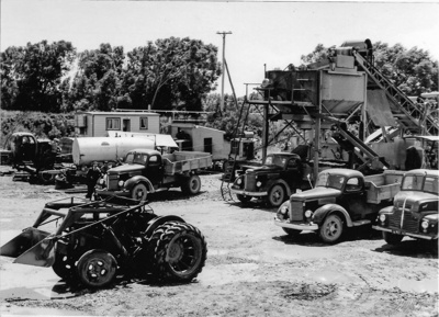 Photograph, Steve Kokay's Mobile Gravel Plant; Unknown Photographer; 1950-1955; OT.2016.13