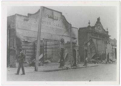 Photograph, 1932 Otautau Fire Damage; Unknown Photographer; 1932; OT.2018.10.3