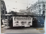 The last Tram to leave Cathedral Square, Christchurch, for New Brighton, October 1952; Purchased from the Star-Sun Newspaper, Christchurch; 1952; 01/2006/812/h