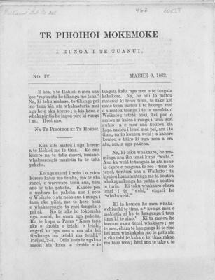 Te Pihoihoi Mokemoke, Gorst, Sir John Eldon, 1863, ARC2461