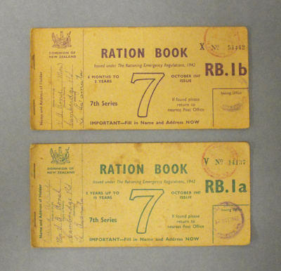 Rations books, 1947, ARC4010