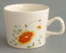 Cup - Springflower pattern; Crown Lynn Potteries Limited; 1979-1989; 2008.1.8
