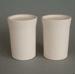 Salt and pepper shaker set -  bisque; Crown Lynn Potteries Limited; 1971-1985; 2008.1.135.1-2