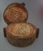 Ram press cases - tiki; Crown Lynn Potteries Limited; 1978; 2009.1.216.1-2