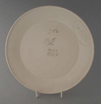 Dinner plate - bisque; Crown Lynn Potteries Limited; 1980-1989; 2009.1.1161