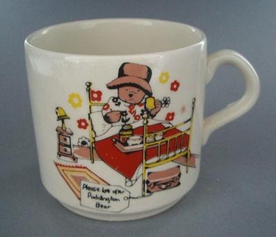 Child's cup - Paddington Bear; Crown Lynn Potteries Limited; 1975-1985; 2009.1.688