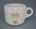 Cup - staff service commemorative; Crown Lynn Potteries Limited; 1988-1989; 2008.1.1875