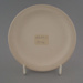 Bread and butter plate - bisque; Crown Lynn Potteries Limited; 1969-1989; 2009.1.277