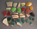 shards - mixing bowls; Crown Lynn Potteries Limited; 1950-1965; 2009.1.1990.1-27
