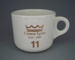 Cup - staff service commemorative; Crown Lynn Potteries Limited; 1988-1989; 2008.1.1881
