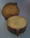 Ram press cases - trinket box lid; Crown Lynn Potteries Limited; 1978; 2009.1.217.1-2