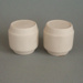 Salt and pepper shaker set -  bisque; Crown Lynn Potteries Limited; 1973-1989; 2008.1.136.1-2