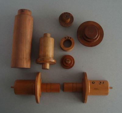 Wooden patterns; Unknown; 1940-1970; 2010.1.77.1-7