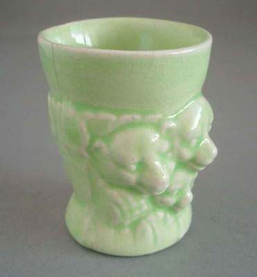 Egg cup - three bears; Unknown; 1945-1960; 2008.1.164