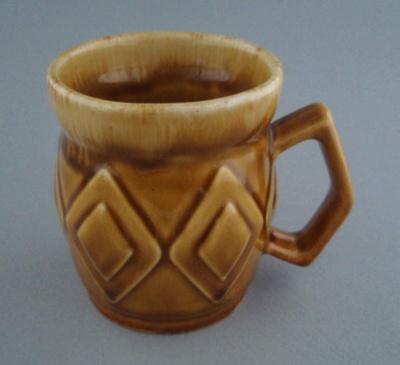 Mug - diamond; Titian Potteries (1965) Limited; 1975-1985; 2008.1.2290