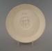 Saucer - bisque; Crown Lynn Potteries Limited; 1971-1989; 2009.1.1272