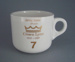 Cup - staff service commemorative; Crown Lynn Potteries Limited; 1988-1989; 2008.1.1880
