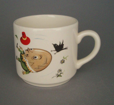 Child's cup - nursery rhyme; Crown Lynn Potteries Limited; 1975-1980; 2008.1.1309