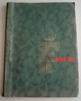 Price list; Crown Lynn Potteries Limited; 1962; 2008.1.1265