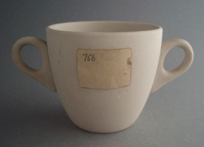 Two handled cup - bisque; Crown Lynn Potteries Limited; 1963-1973; 2008.1.1217