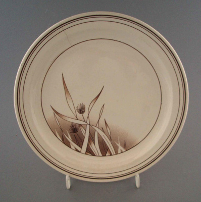 Salad plate - Pampas pattern; Crown Lynn Potteries Limited; 1985-1989; 2009.1.844