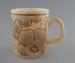 Mug - Camille pattern; Crown Lynn Potteries Limited; 1977-1989; 2009.1.784