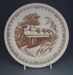 Dinner plate - Heritage pattern; Crown Lynn Potteries Limited; 1981-1988; 2008.1.1786