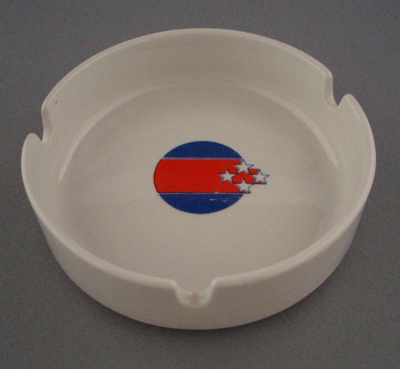 Ashtray - 1990 Commonwealth Games; Crown Lynn Potteries Limited; 1989-1990; 2009.1.233