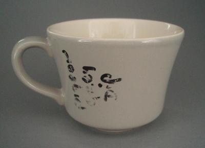 Cup - trial; Crown Lynn Potteries Limited; 1981-1989; 2008.1.1765