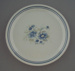 Bread and butter plate - Blue bouquet pattern; Crown Lynn Potteries Limited; 1980-1985; 2009.1.1030