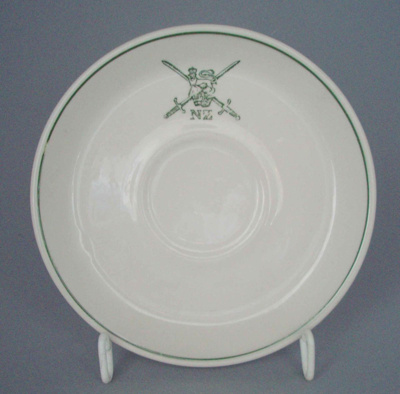 Saucer - Army; Crown Lynn Potteries Limited; 1982; 2008.1.1292