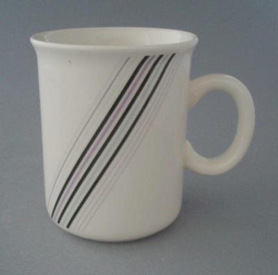 Mug - banded; Crown Lynn Potteries Limited; 1984-1989; 2009.1.800