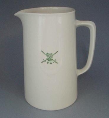 Jug - Army; Crown Lynn Potteries Limited; 1960-1989; 2008.1.1287