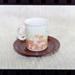 Negative - mug and saucer orange water/butterflies; 19 Apr 1988; 2008.1.3738