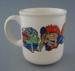 Mug - monsters; Crown Lynn Potteries Limited; 1981-1989; 2009.1.208