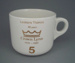 Cup - staff service commemorative; Crown Lynn Potteries Limited; 1988-1989; 2008.1.1883