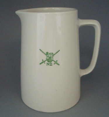 Jug - Army; Crown Lynn Potteries Limited; 1960-1989; 2008.1.1288