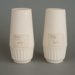 Salt and pepper shaker set - bisque; Crown Lynn Potteries Limited; 1969-1989; 2008.1.133.1-2