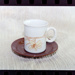 Negative - mug and saucer brown horizontal flower; 19 Apr 1988; 2008.1.3737