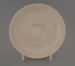 Bread and butter plate - bisque; Crown Lynn Potteries Limited; 1976-1989; 2009.1.281