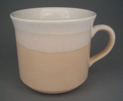 Cup - banded; Crown Lynn Potteries Limited; 1984-1989; 2008.1.1729
