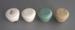 Handles x 4; Crown Lynn Potteries Limited; 1970-1989; 2009.1.1993.1-4