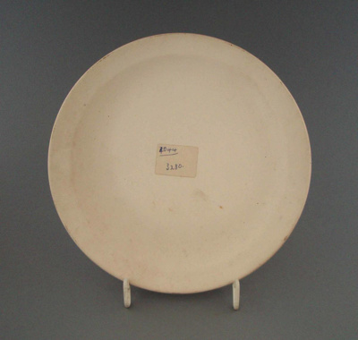 Bread and butter plate - bisque; Crown Lynn Potteries Limited; 1976-1989; 2009.1.1330