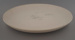 Chop plate - bisque; Crown Lynn Potteries Limited; 1982-1989; 2009.1.1229