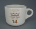 Cup - staff service commemorative; Crown Lynn Potteries Limited; 1988-1989; 2008.1.1877