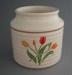 Spice jar - Flora pattern; Crown Lynn Potteries Limited; 1986-1989; 2008.1.1802