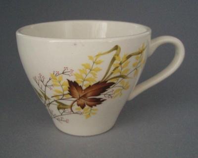 Cup - Autumn Splendour pattern; Crown Lynn Potteries Limited; 1959-1975; 2008.1.1092