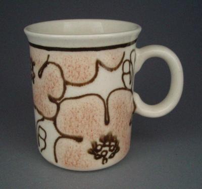 Mug - floral; Titian Potteries (1965) Limited; 1979-1985; 2008.1.2548